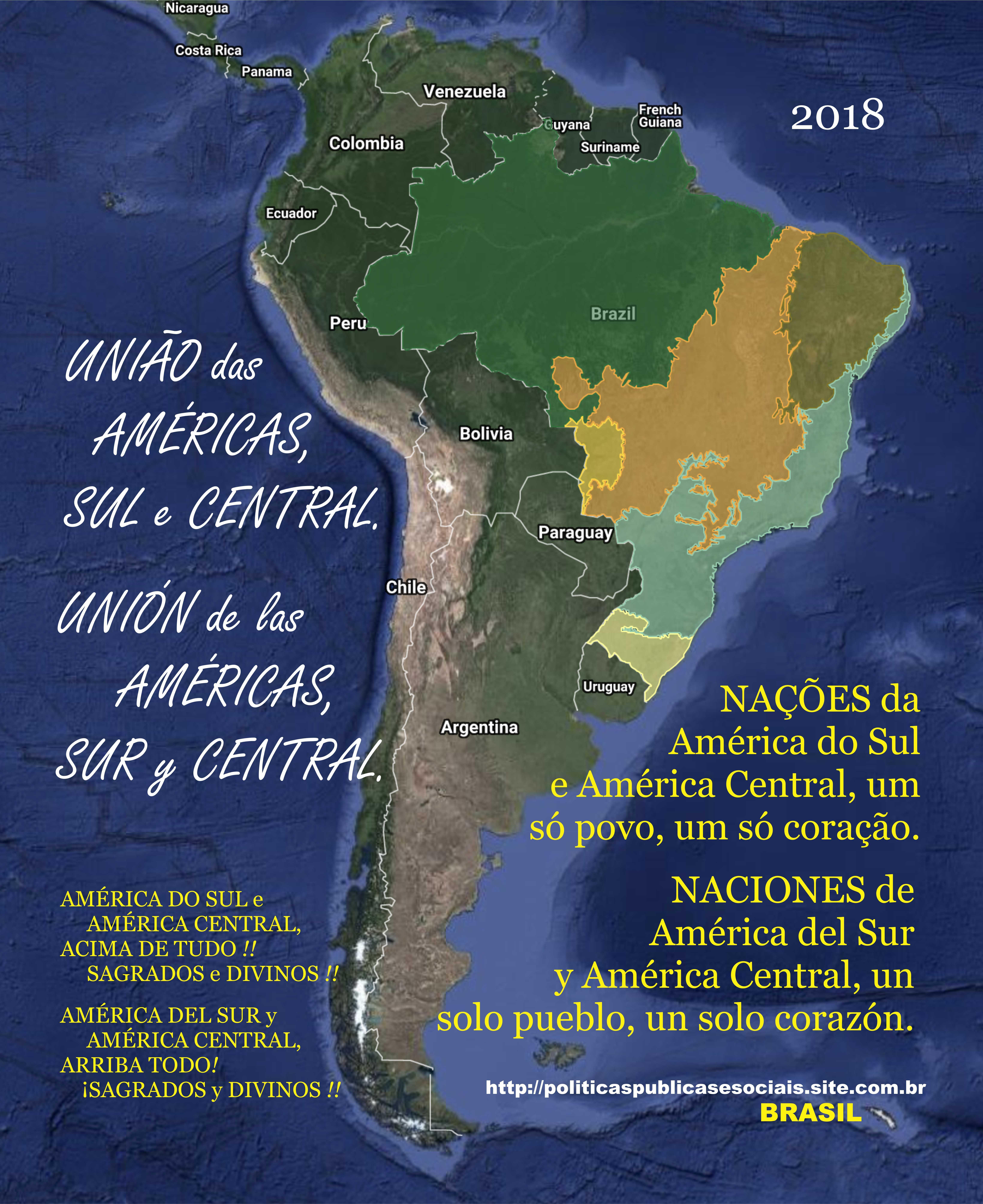 União das Américas do Sul e Central - BRASIL