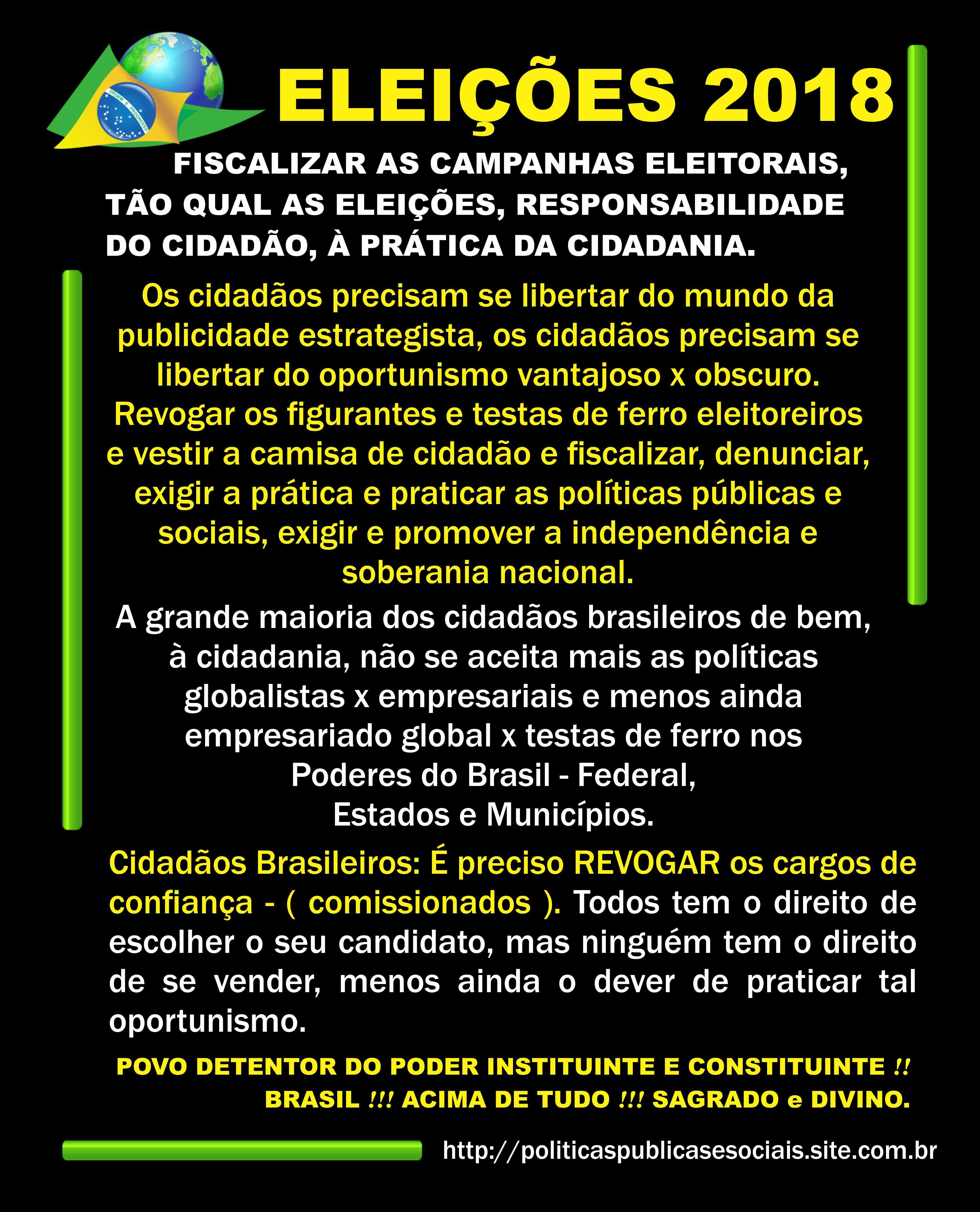 ELEIÇÕES 2018 BRASIL