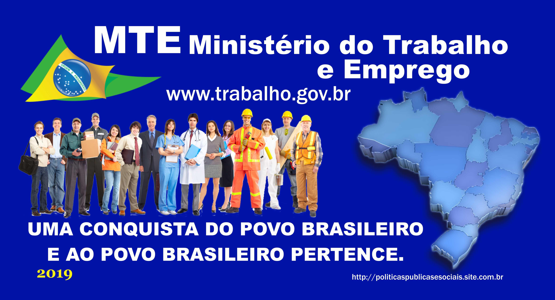 MTE Ministério do Trabalho e Emprego