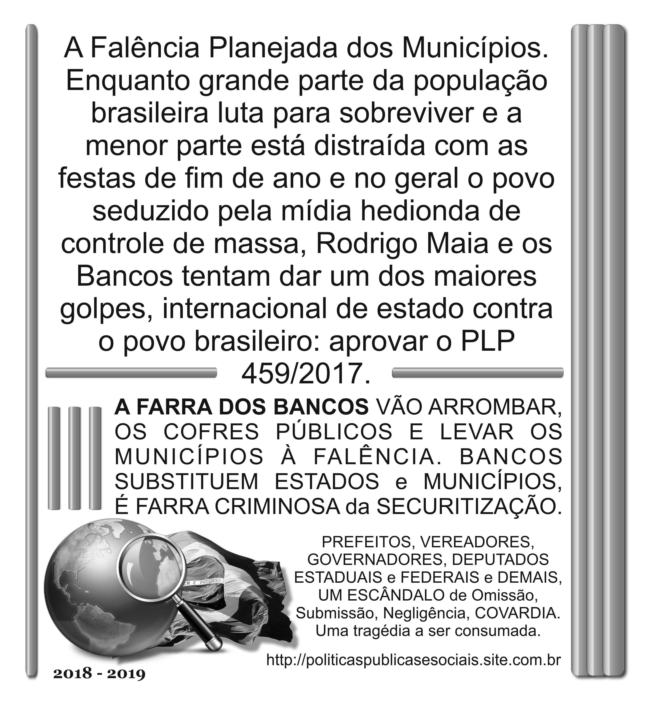 PLP 459 2017 NÃO