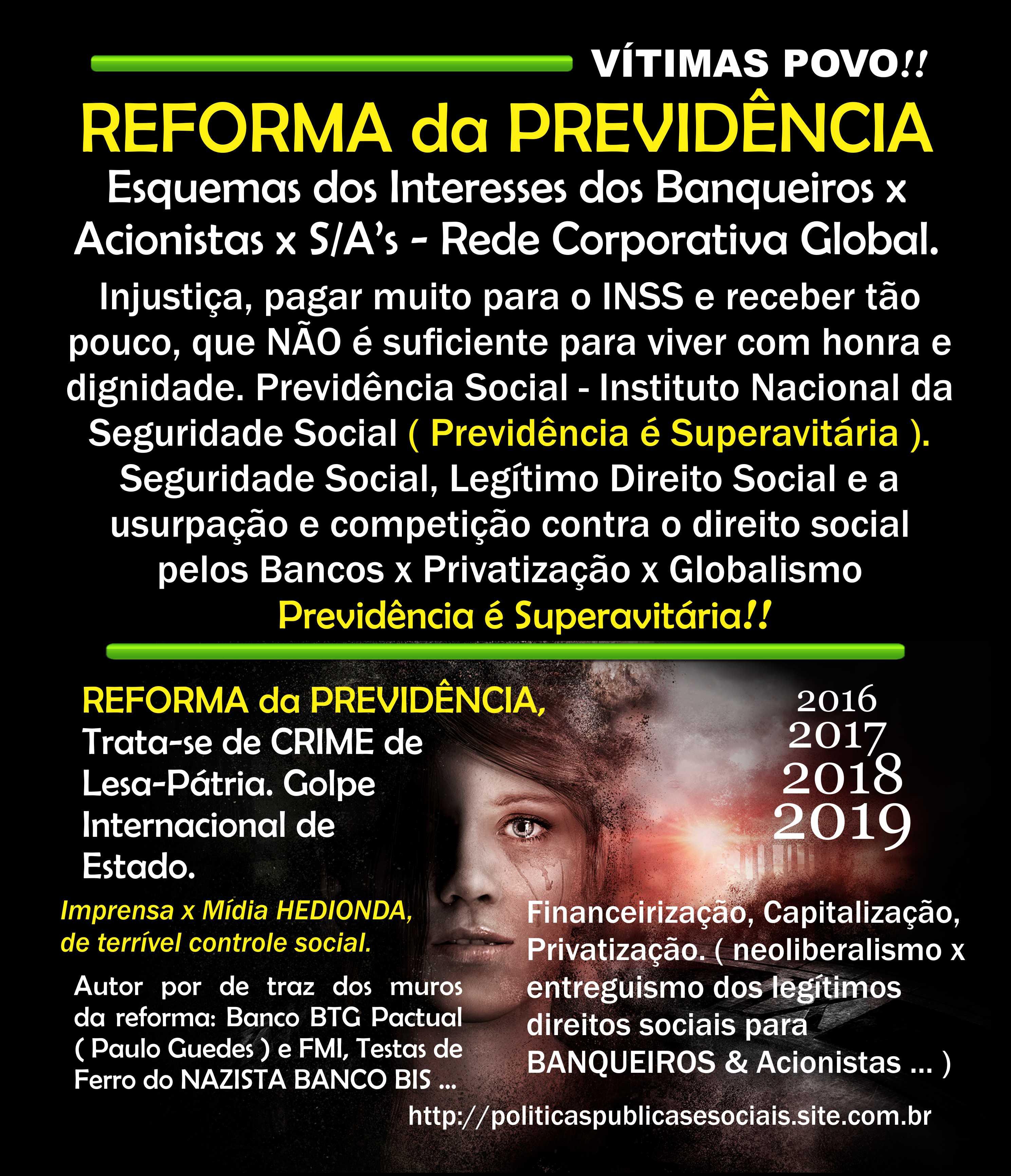 Reforma da Previdência NÃO