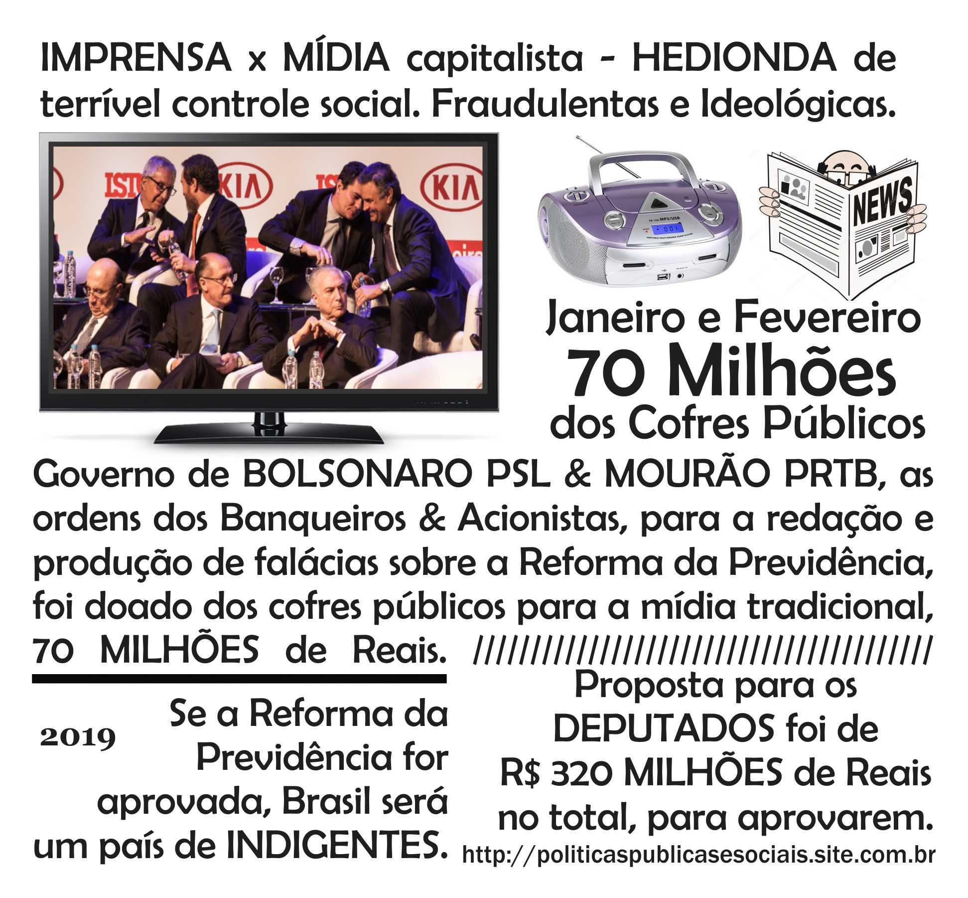 MÍDIA Brasil Reforma da Previdência
