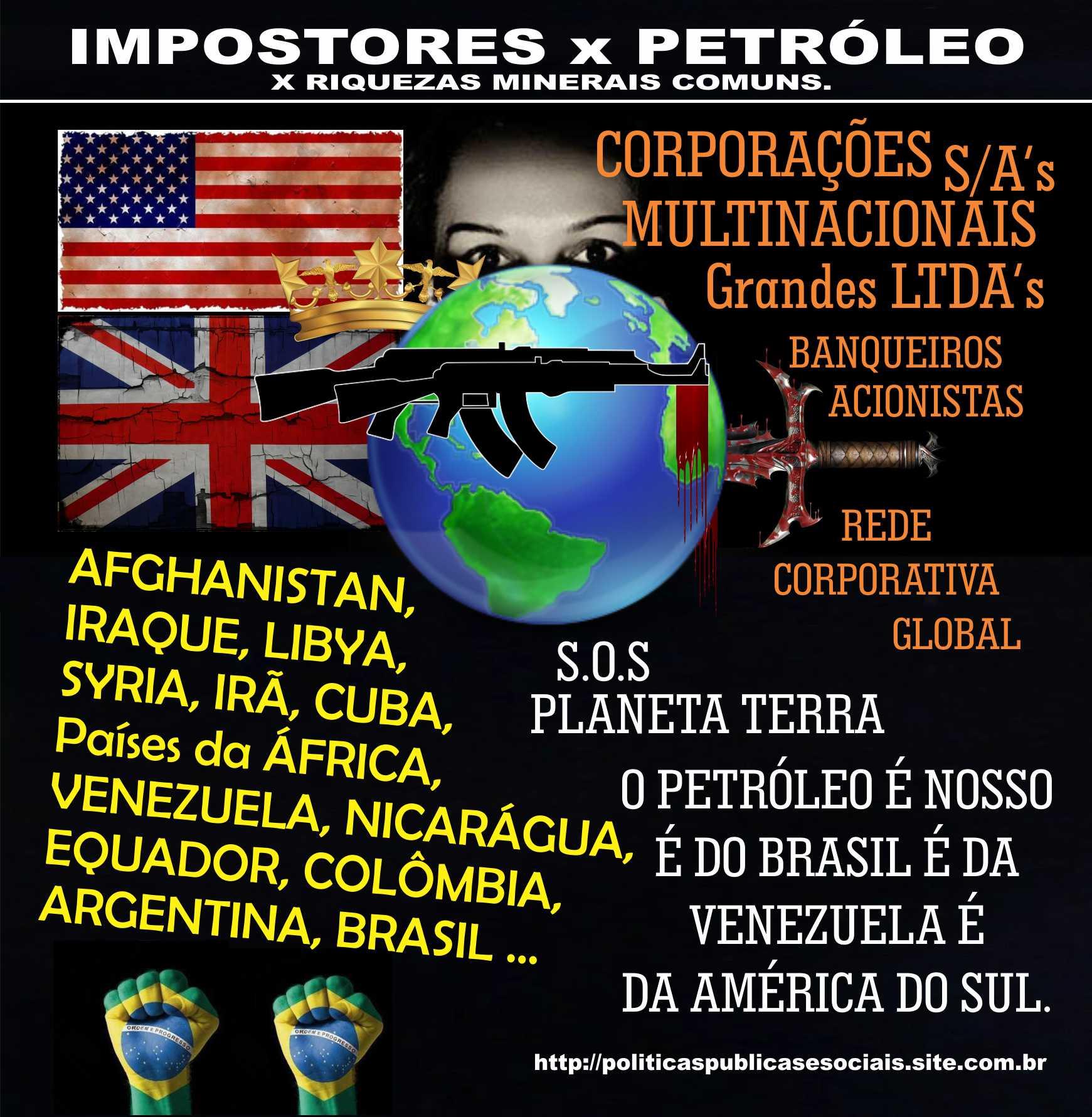 IMPOSTORES PETRÓLEO RIQUEZAS MINERAIS COMUNS